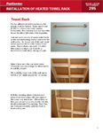 Instructions for Installing a Heated Towel Rack