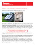 Radiantec Basic Solar Domestic Water Heater Owners Manual