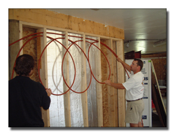 Radiant heat your walls