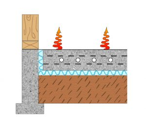 This is one of the methods Radiantec recommends for insulating below a heated concrete floor.