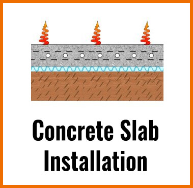 Concrete Slab Radiant Floor Heating Installation