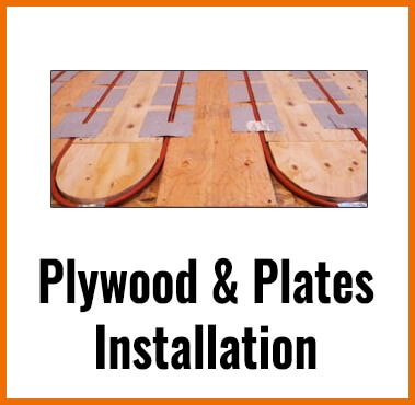 PLYWOOD AND PLATES RADIANT FLOOR HEATING INSTALLATION
