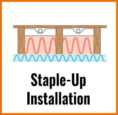 STAPLE-UP RADIANT FLOOR HEATING INSTALLATION