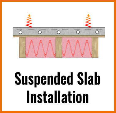 SUSPENDED SLAB RADIANT FLOOR HEATING INSTALLATION